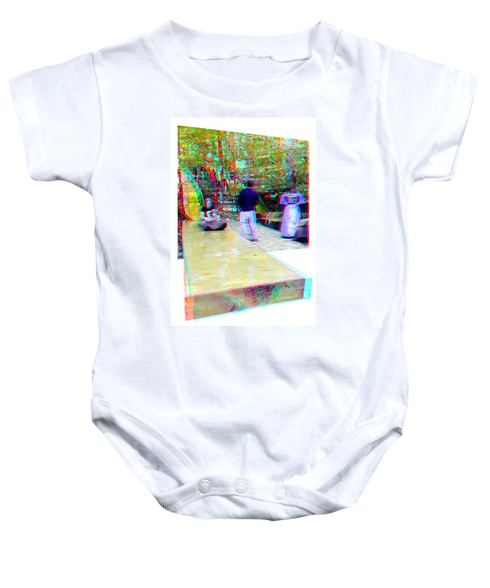 3d Baby Onesie featuring the photograph Renaissance Slide - Red-cyan 3d Glasses Required by Brian Wallace