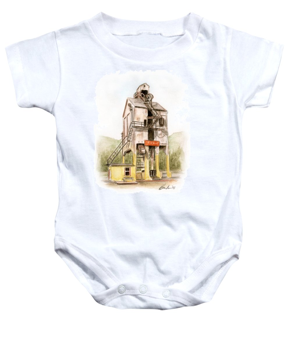 Renovo Travel Art Brucelennon Art Baby Onesie featuring the painting Renovo Pa by Bruce Lennon