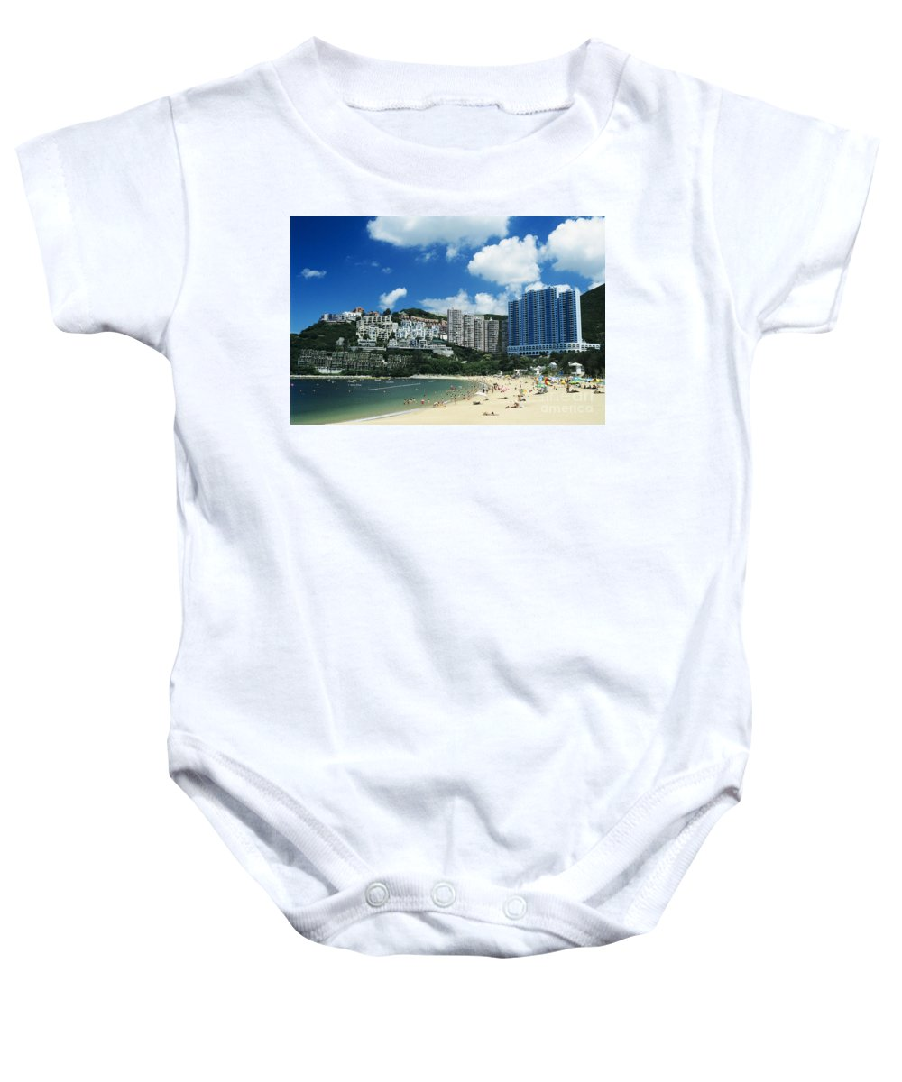 Afternoon Baby Onesie featuring the photograph Repulse Bay by Gloria and Richard Maschmeyer - Printscapes