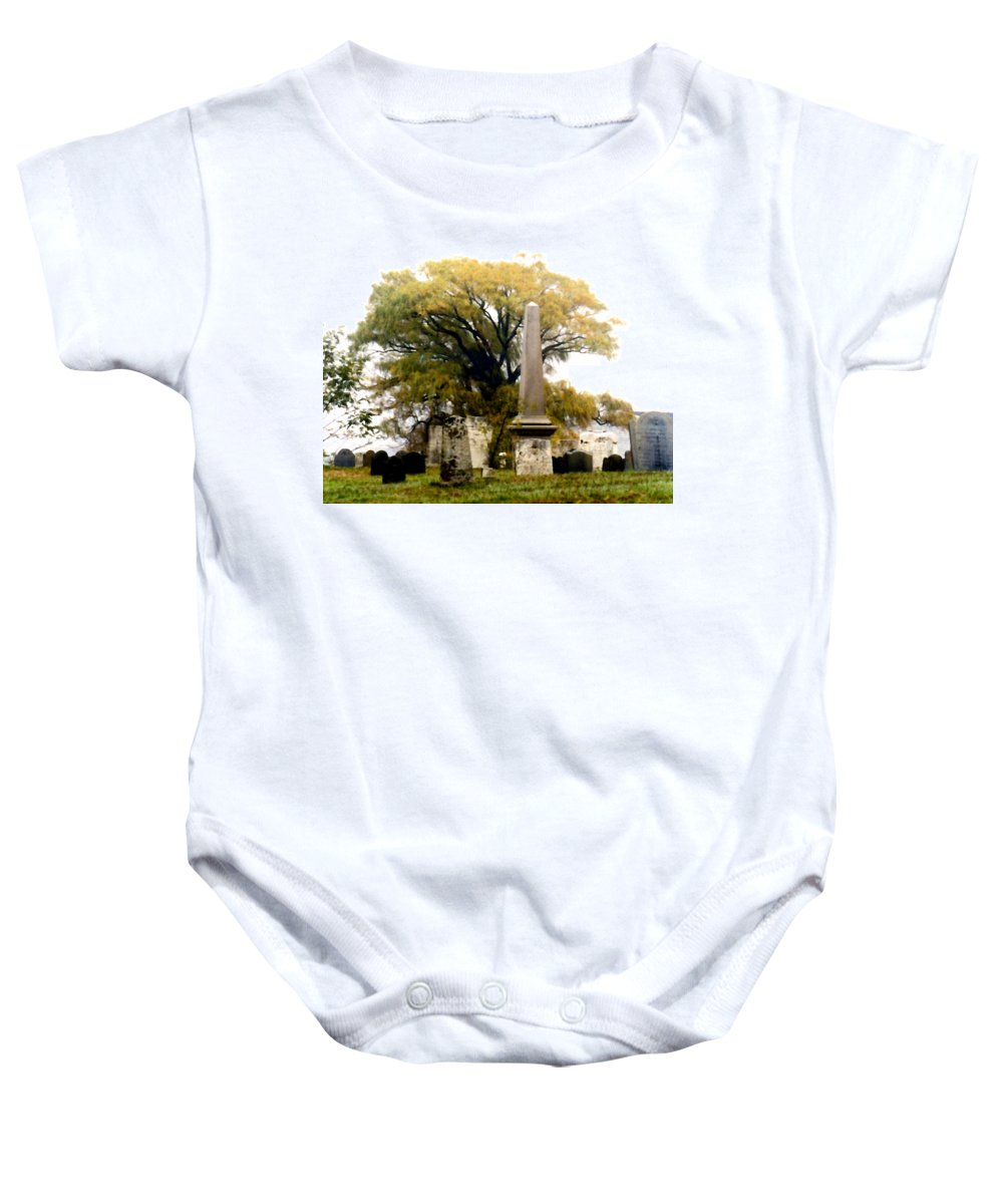 Cemetery Baby Onesie featuring the painting Resting In Peace by Paul Sachtleben