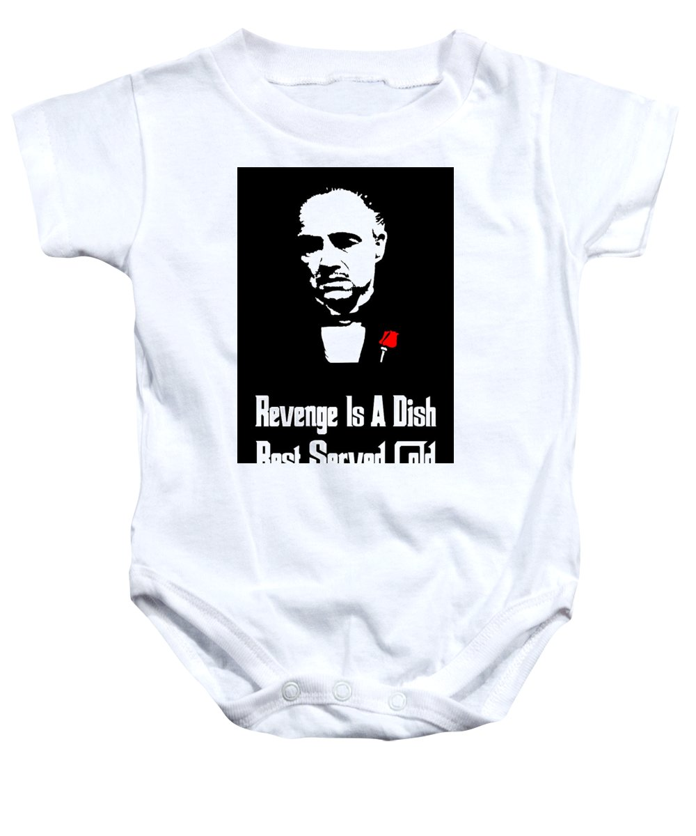Revenge Is A Dish Best Served Cold - The Godfather Poster Onesie for ...