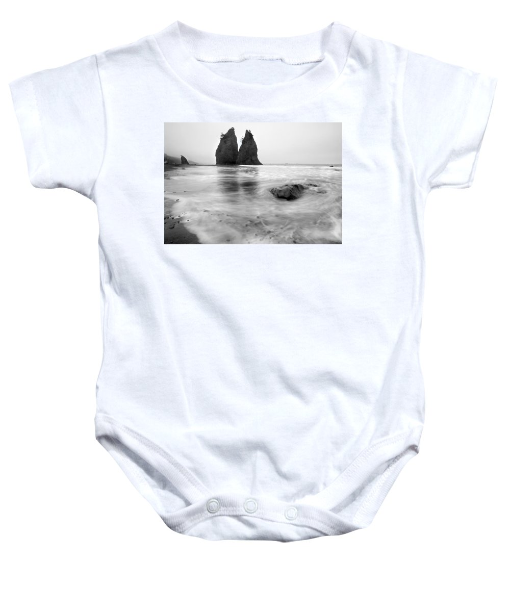 Beach Baby Onesie featuring the photograph Rialto Reflections by Mike Dawson