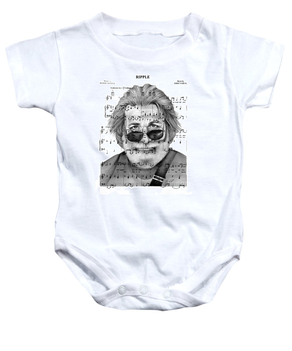 Jerrygarcia Baby Onesie featuring the drawing Ripple by Alan Zinn