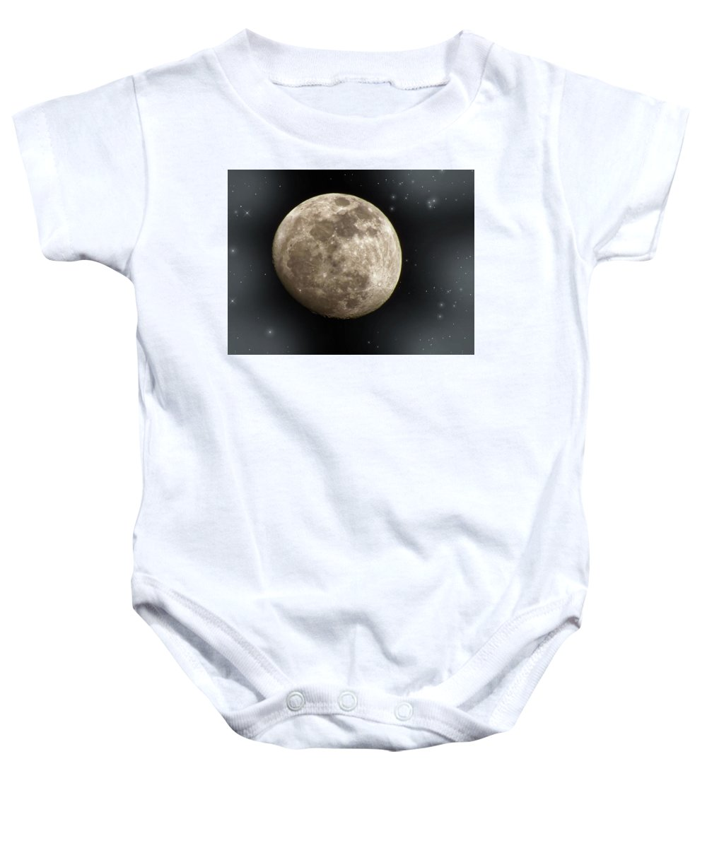 Moon Baby Onesie featuring the photograph Rise And Shine by Lois Booth