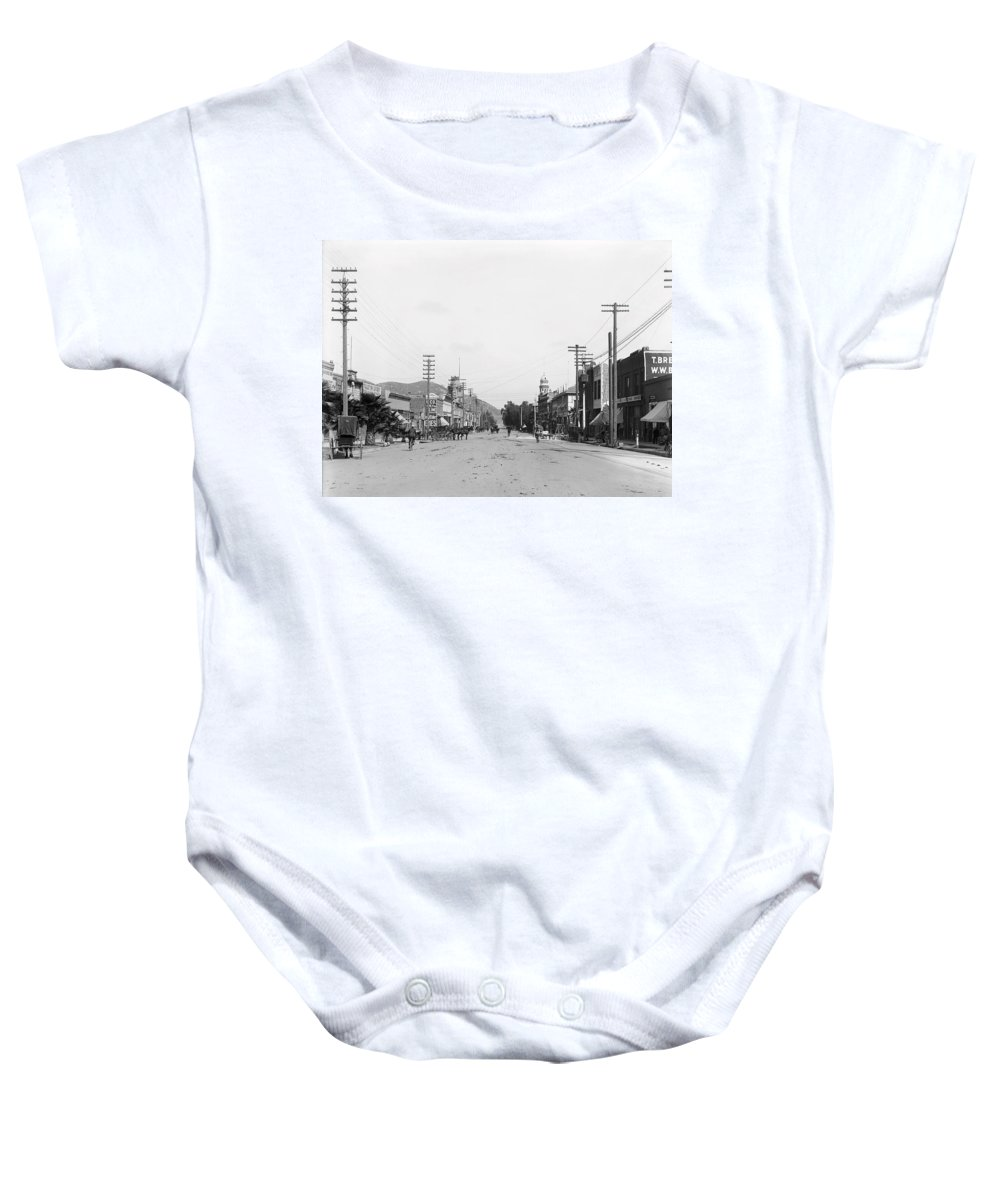 Riverside Baby Onesie featuring the photograph Riverside California C. 1900 by Daniel Hagerman