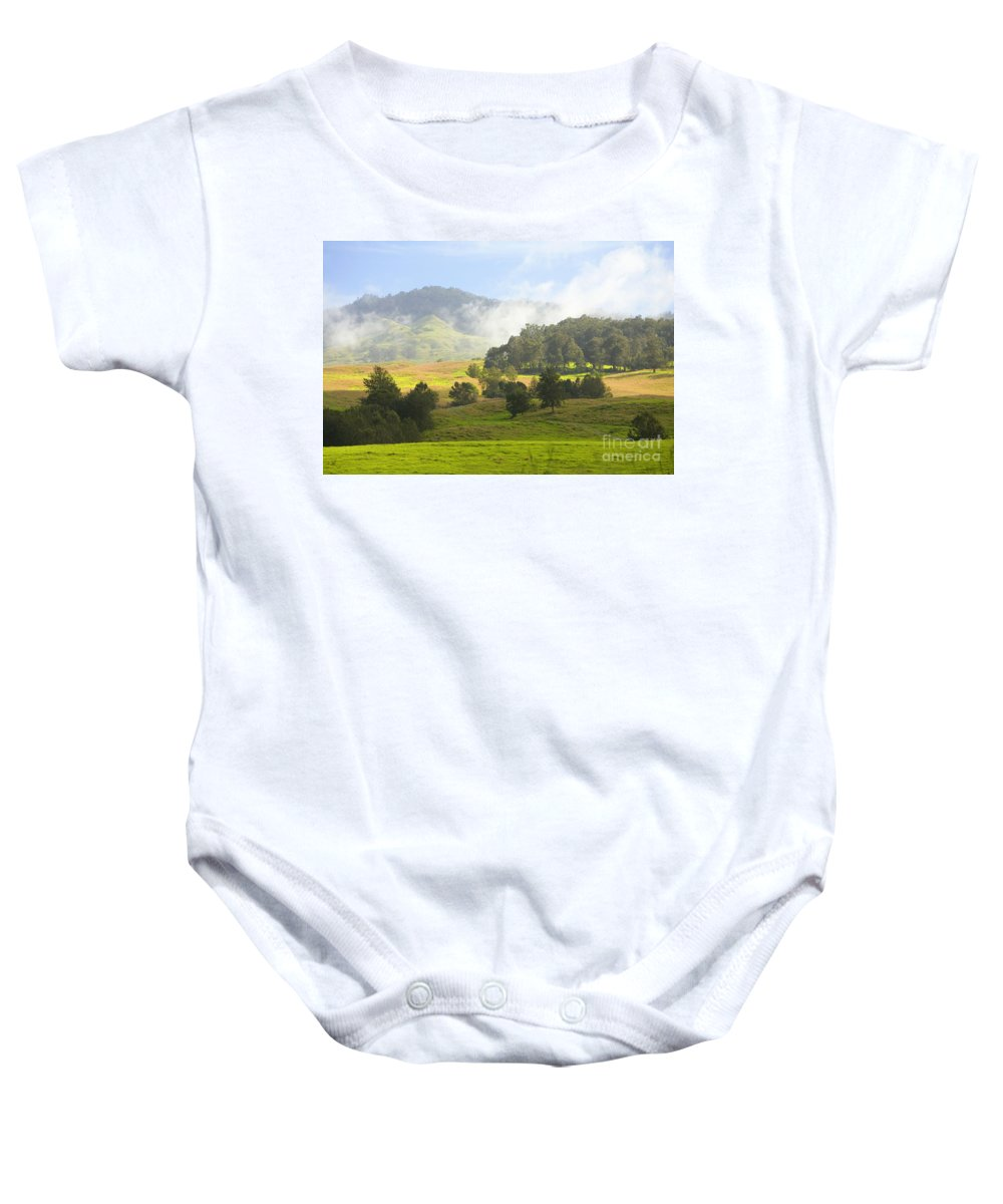 Afternoon Baby Onesie featuring the photograph Rolling Green Hills by Ron Dahlquist - Printscapes