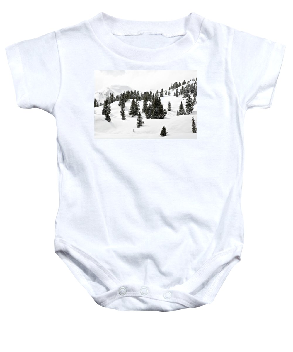 Rolling Hills Baby Onesie featuring the photograph Rolling Hills by Marilyn Hunt