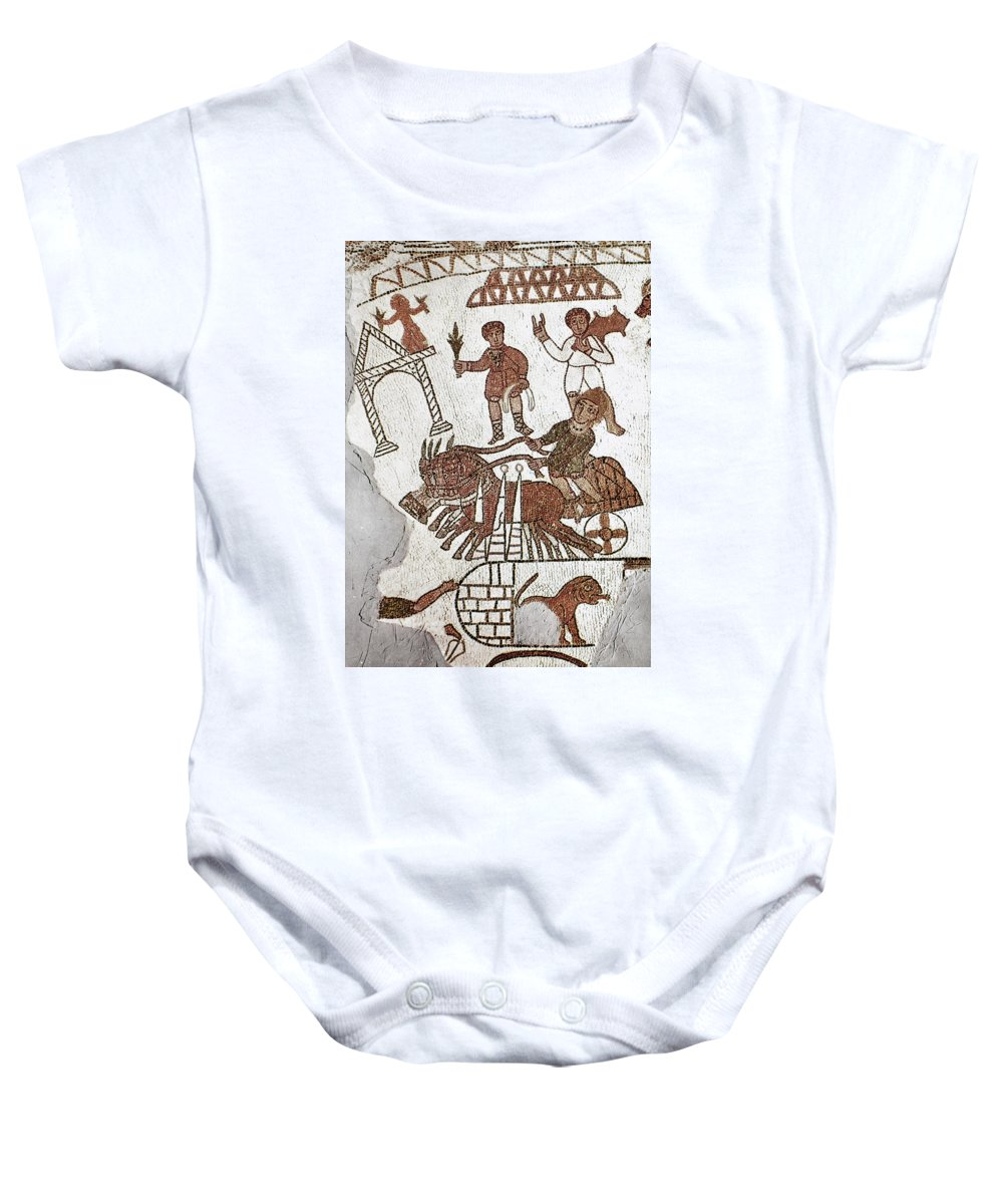 5th Century Baby Onesie featuring the photograph Roman Mosaic: 5th Century by Granger