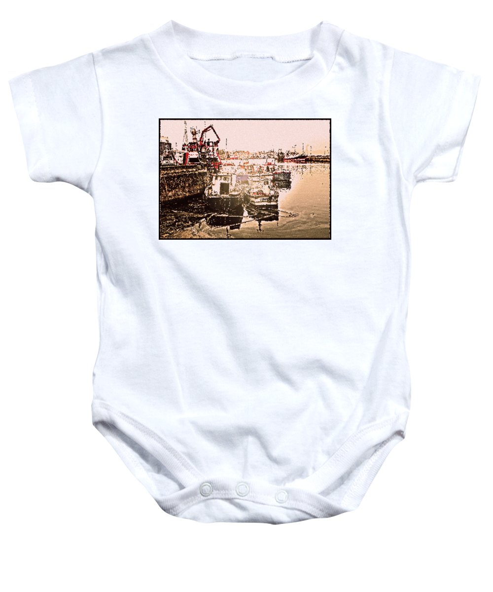 Howth Baby Onesie featuring the photograph Romance In Howth by Alex Art and Photo