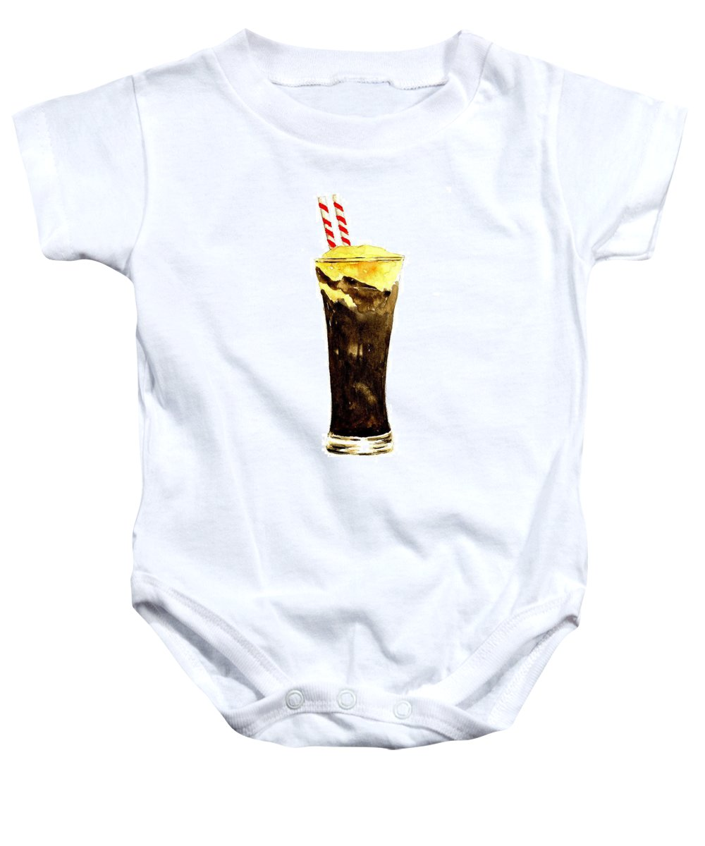 Food Baby Onesie featuring the painting Root Beer Float by Michael Vigliotti