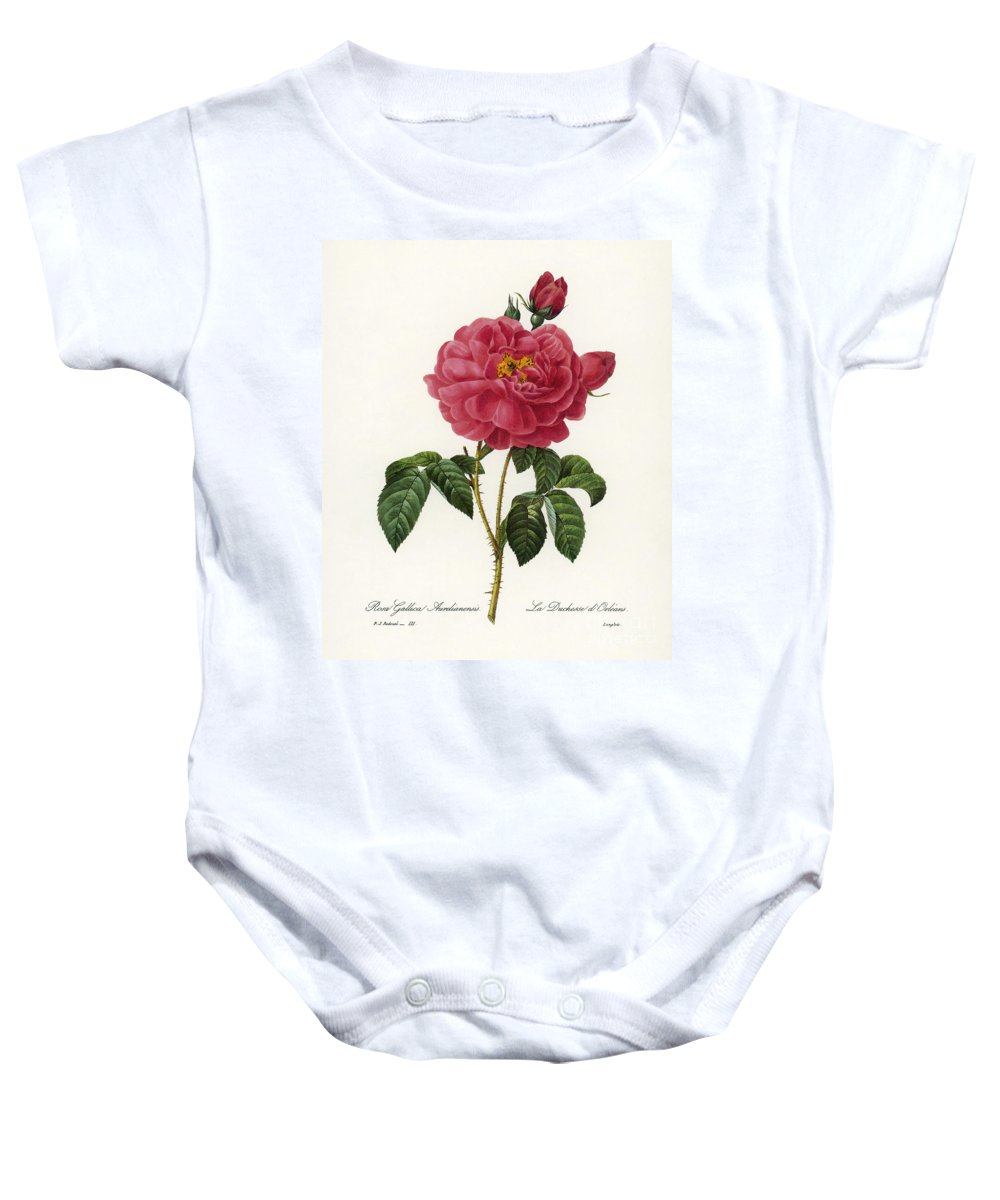 1833 Baby Onesie featuring the photograph Rosa Gallica by Granger