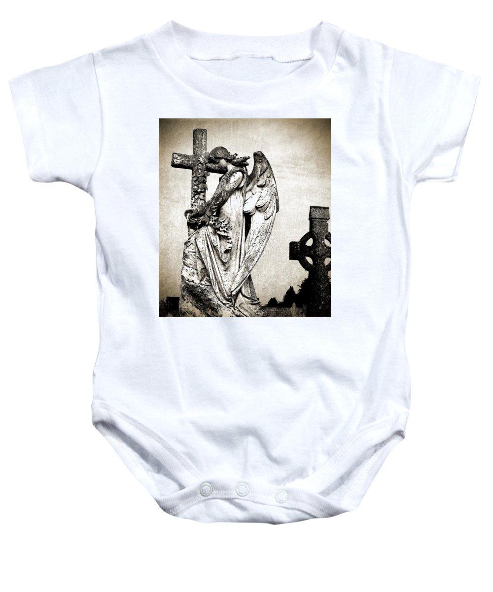 Ireland Baby Onesie featuring the photograph Roscommon Angel No 1 by Teresa Mucha