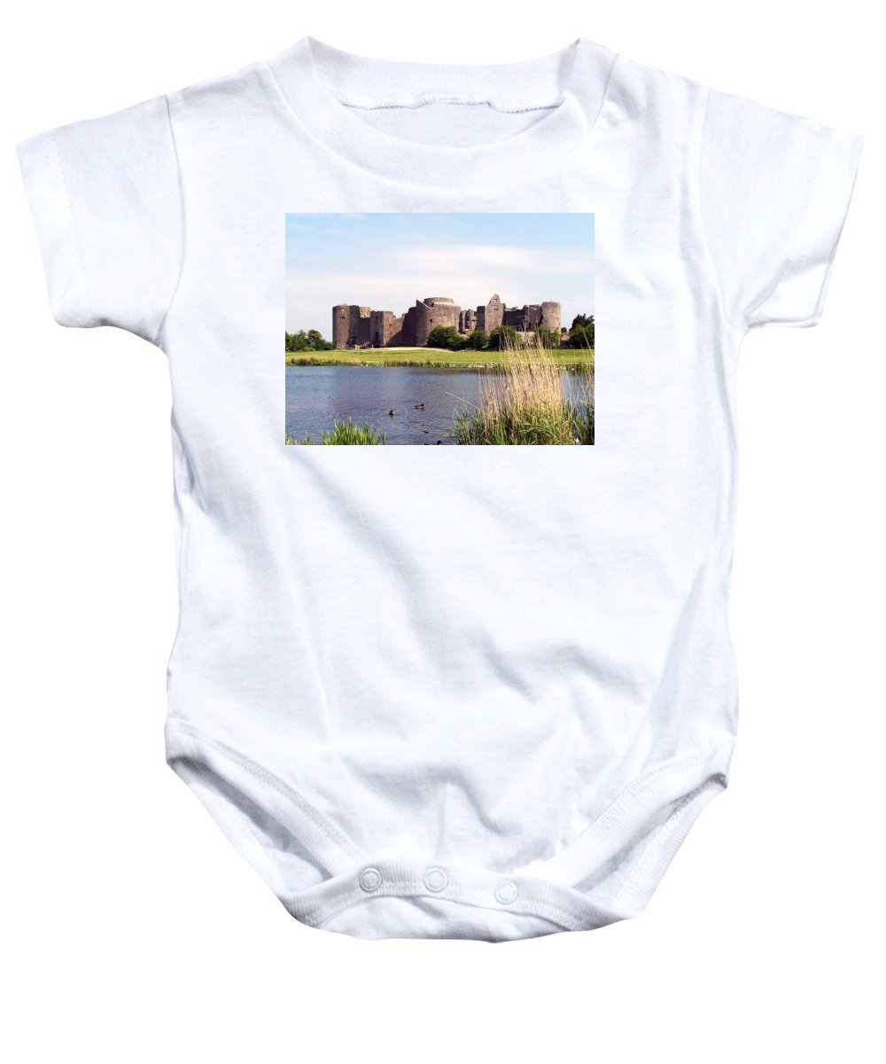Roscommon Baby Onesie featuring the photograph Roscommon Castle Ireland by Teresa Mucha