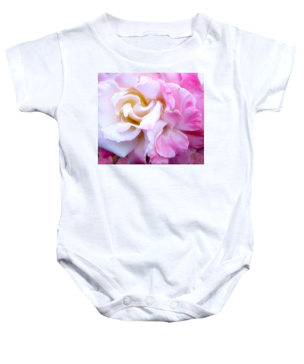 Flowers Baby Onesie featuring the photograph Rose by Karen W Meyer