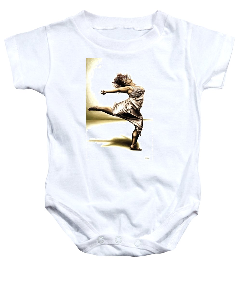 Rubins Baby Onesie featuring the painting Rubinesque Dancer by Richard Young