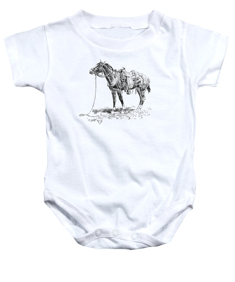 19th Century Baby Onesie featuring the photograph Russell: Rawlins Horse by Granger