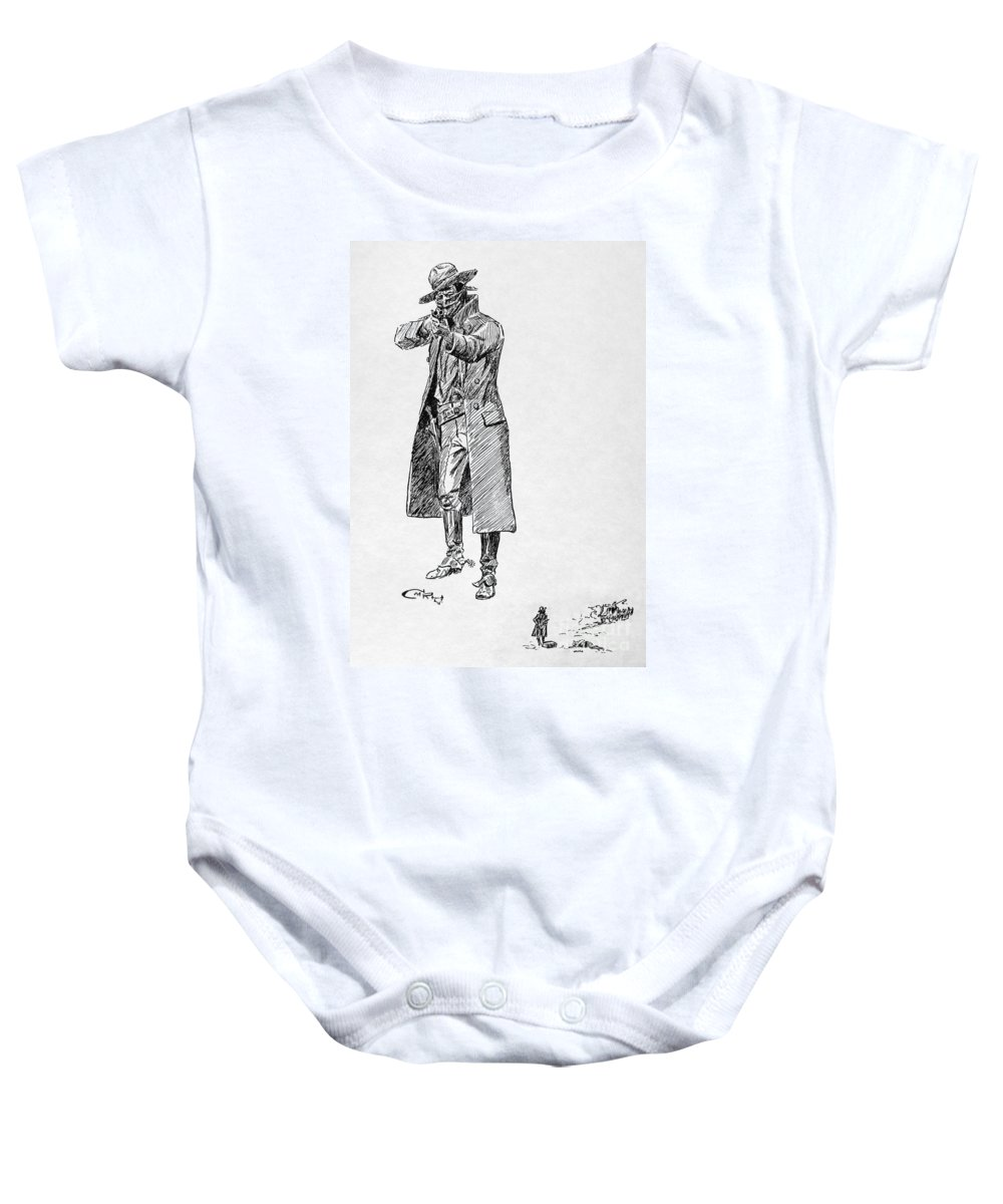 19th Century Baby Onesie featuring the photograph Russell: Stage Robber by Granger