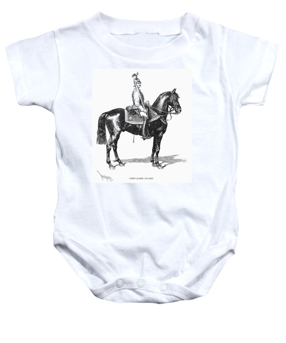 1890 Baby Onesie featuring the photograph Russian Chevalier Guard by Granger