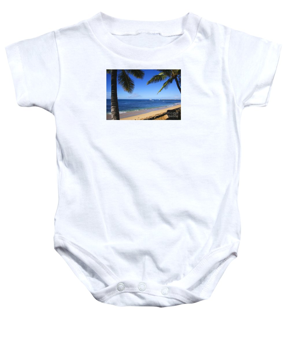 Hawaii Baby Onesie featuring the photograph Sailing Off by Jun TR