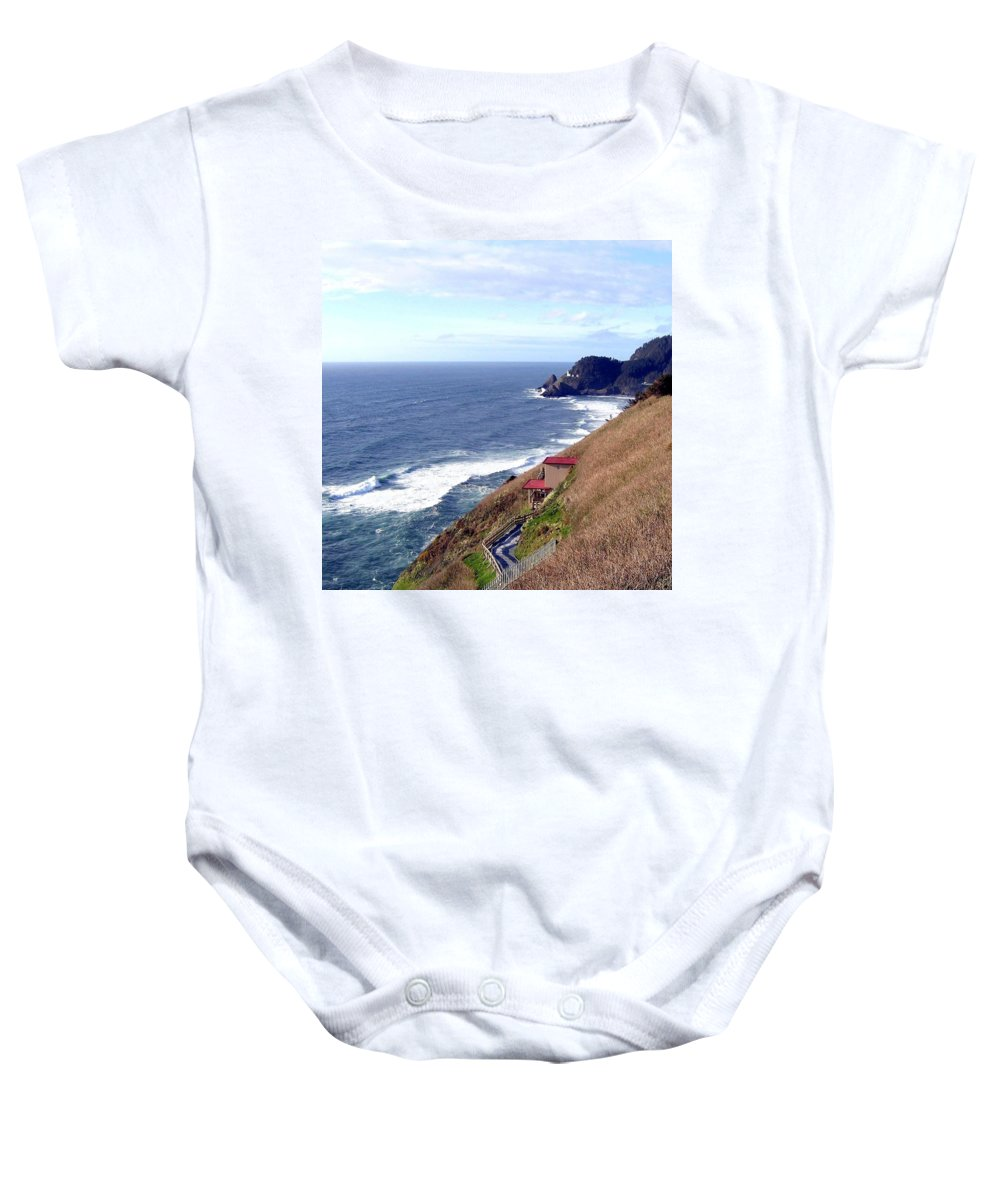 Sand And Sea Baby Onesie featuring the photograph Sand And Sea 5 by Will Borden