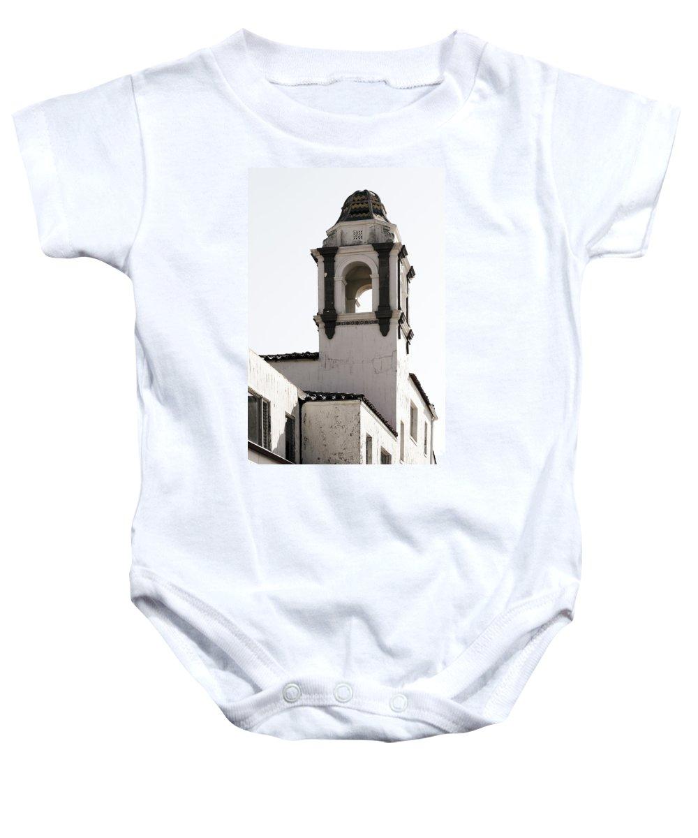 Bell Baby Onesie featuring the photograph Santa Cruz Church by Marilyn Hunt