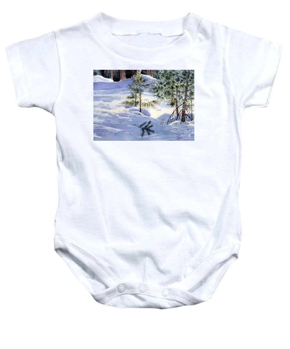 Sappling Baby Onesie featuring the painting Sapling by Donald Maier
