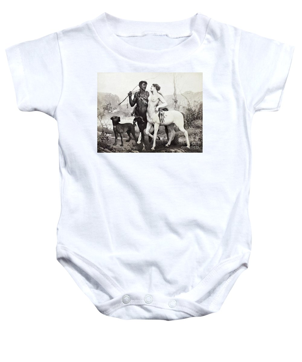 Ancient Baby Onesie featuring the photograph Schutzenberger Centaurs by Granger