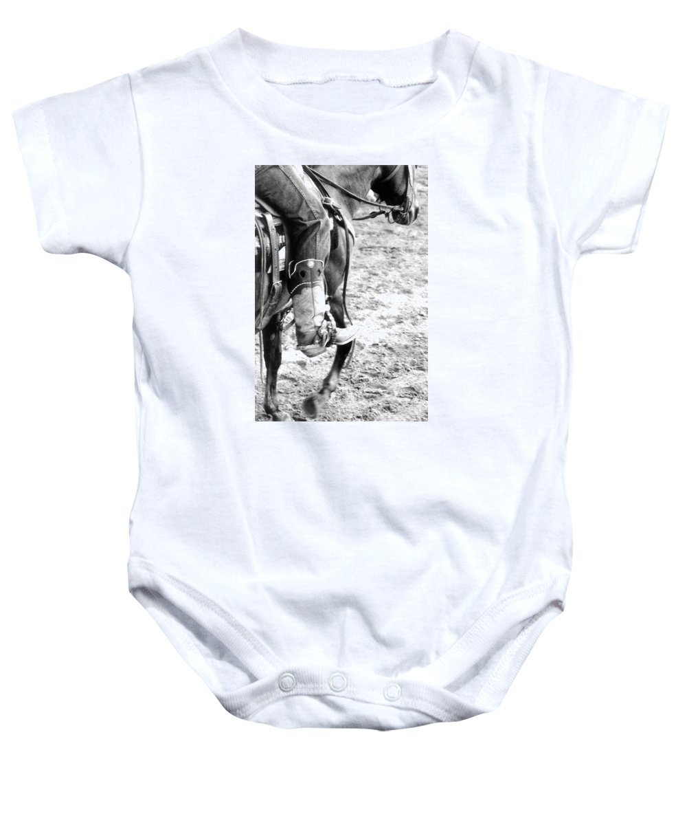 Boot Baby Onesie featuring the photograph Scootin' Boot by Rusty Ruckel