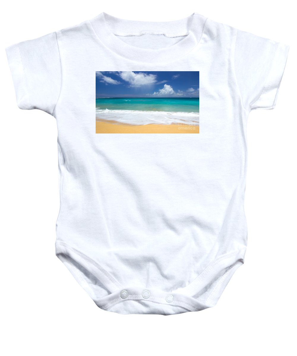 Sea Baby Onesie featuring the photograph Seashore Serenity by Kris Hiemstra