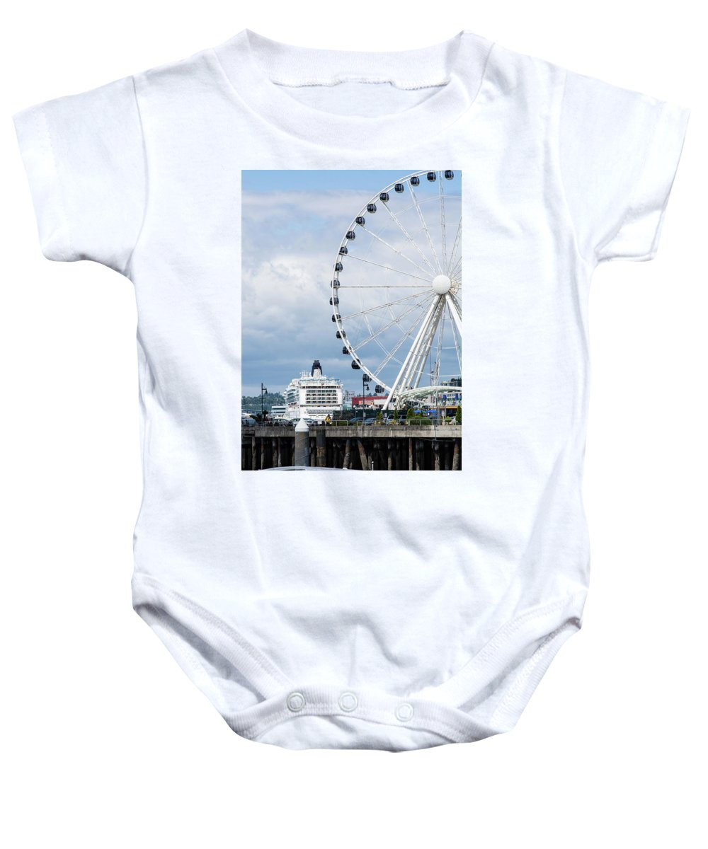 Seattle Baby Onesie featuring the photograph Seattle Waterfront by Robert Briggs