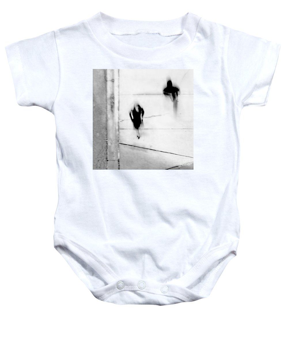 Black Baby Onesie featuring the photograph Self-protection - If You Look Me In The Eye Will You See Me by Dana DiPasquale
