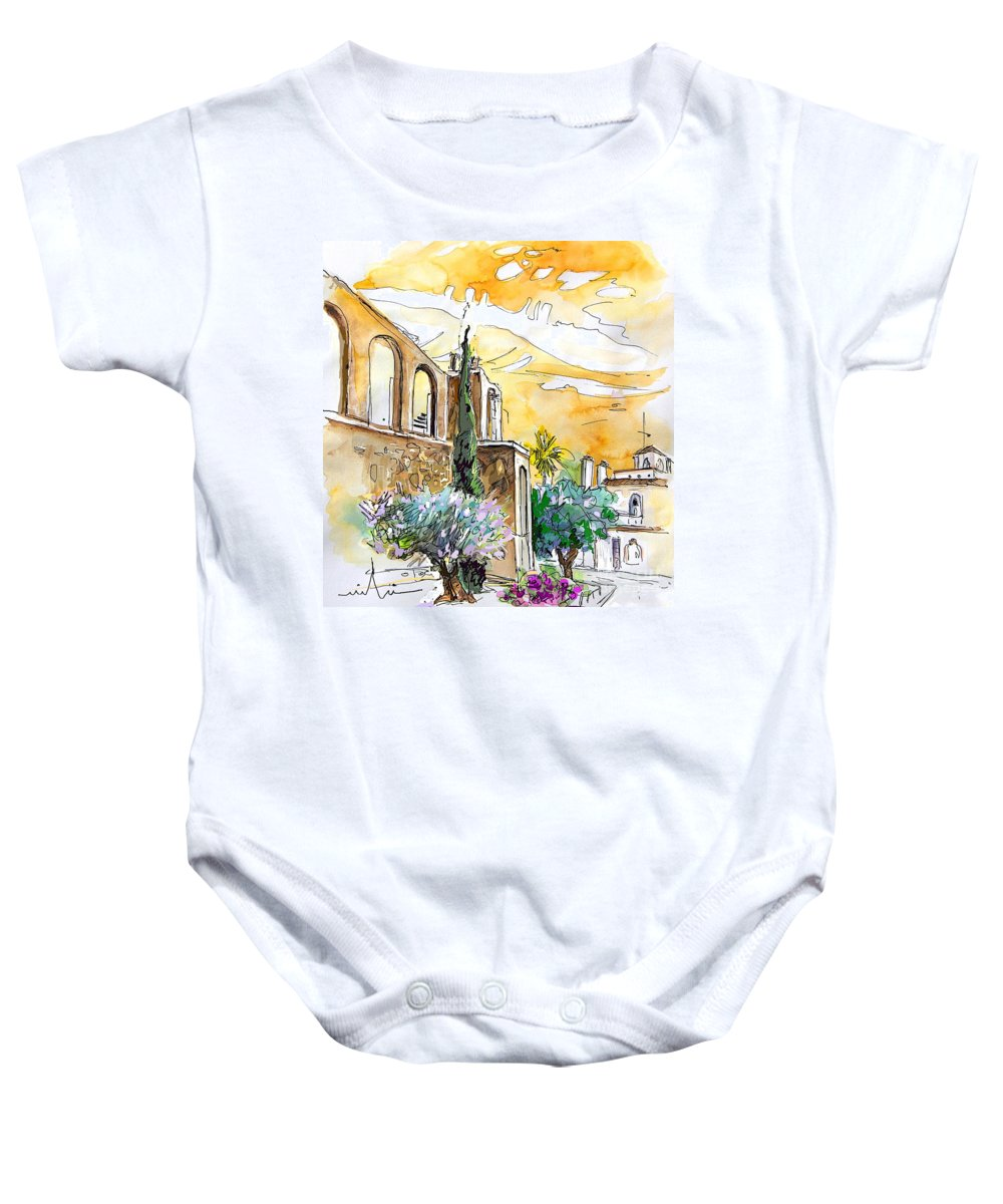 Portugal Paintings Baby Onesie featuring the painting Serpa Portugal 10 by Miki De Goodaboom