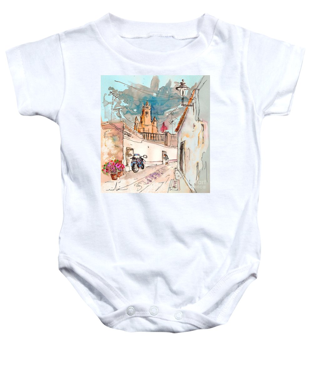 Portugal Paintings Baby Onesie featuring the painting Serpa Portugal 22 by Miki De Goodaboom