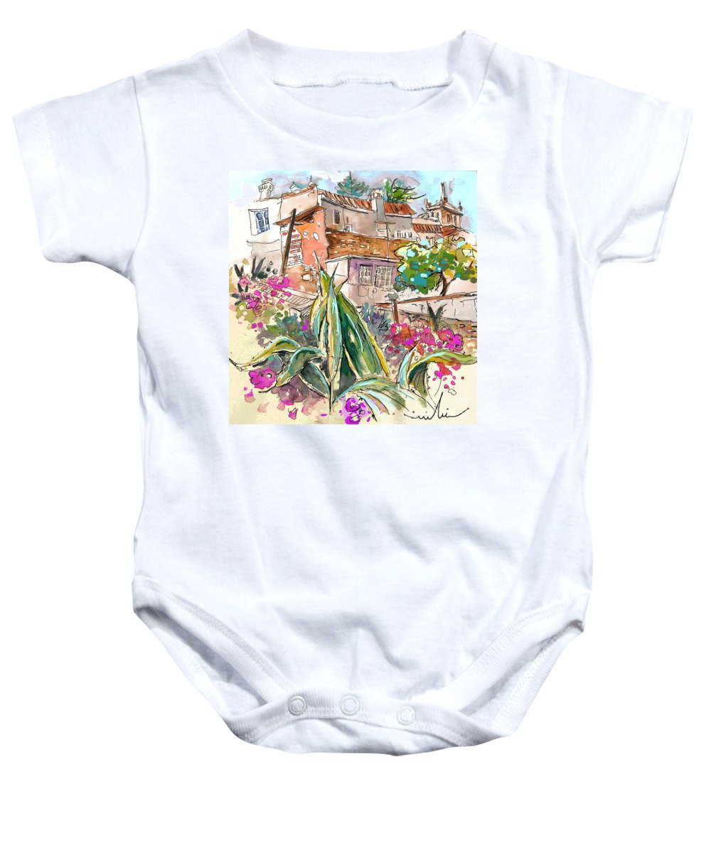 Portugal Paintings Baby Onesie featuring the painting Serpa Portugal 24 by Miki De Goodaboom