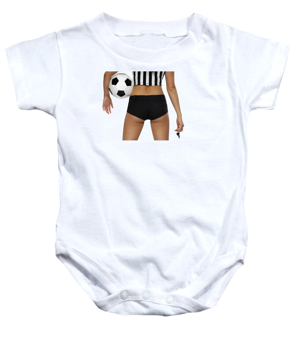 Soccer Baby Onesie featuring the photograph Sexy Referee by Oleksiy Maksymenko
