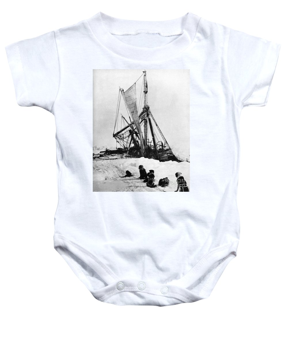1915 Baby Onesie featuring the photograph Shackletons Endurance by Granger