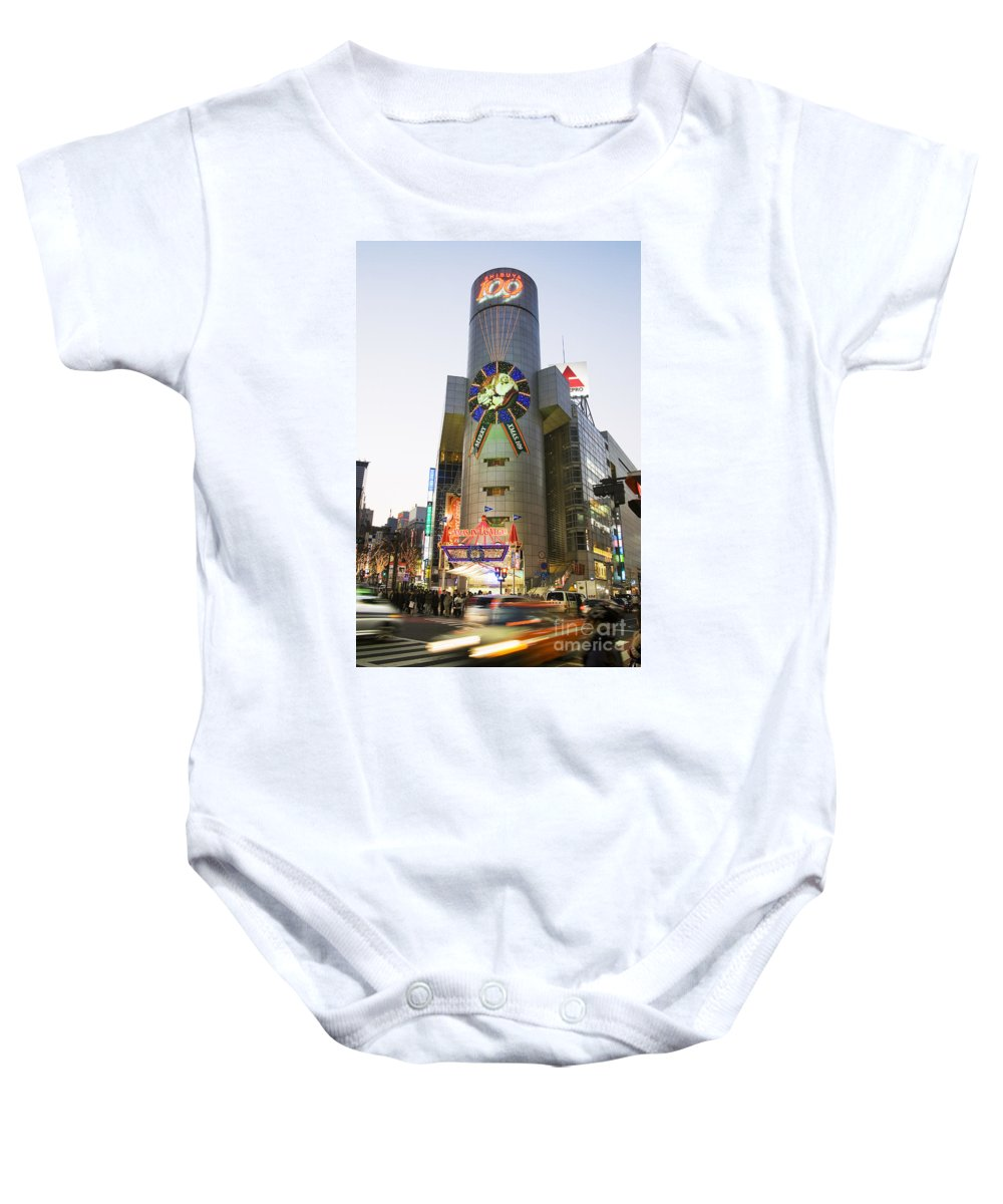 Active Baby Onesie featuring the photograph Shibuya by Bill Brennan - Printscapes