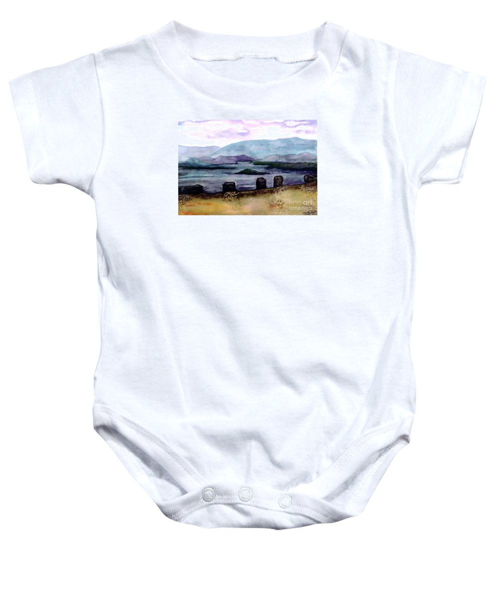 Original Painting Baby Onesie featuring the painting Silent Sentinels by Patricia Griffin Brett