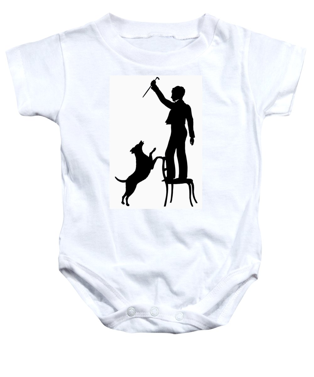 1830 Baby Onesie featuring the photograph Silhouette, 1830 by Granger