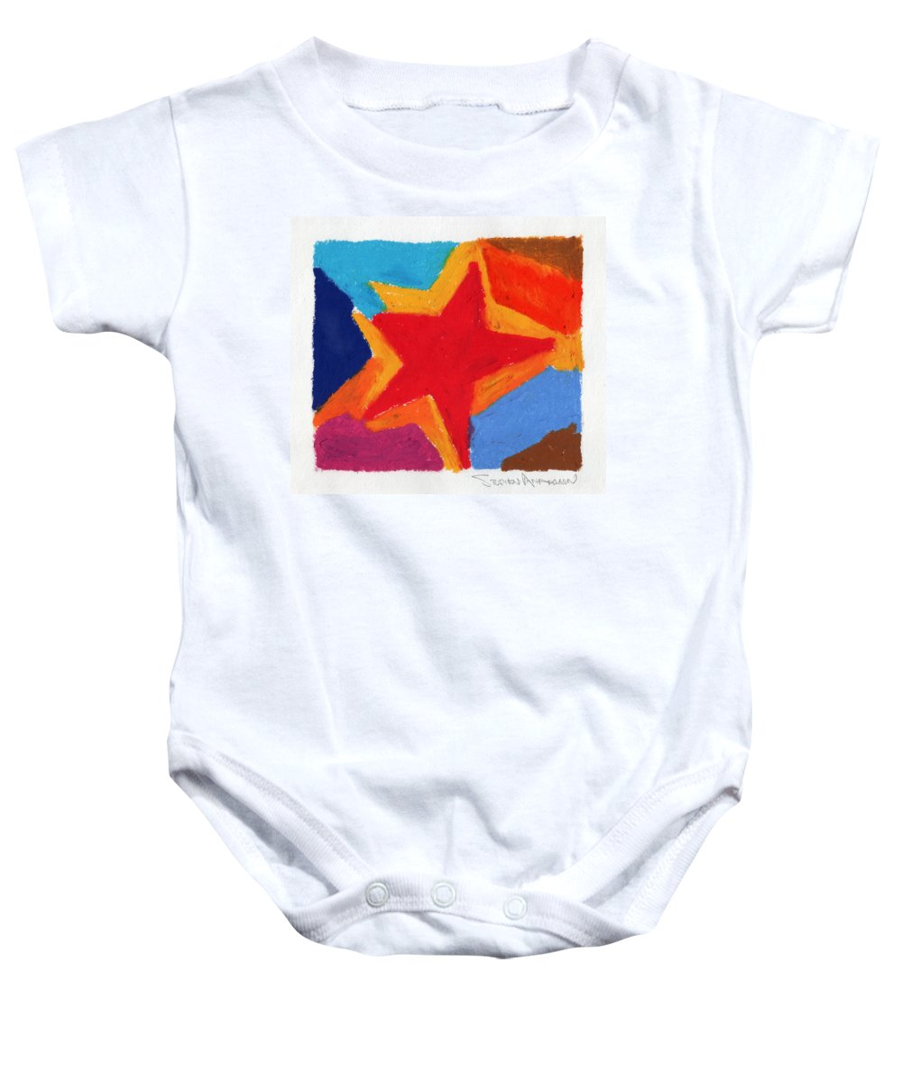 Star Baby Onesie featuring the painting Simple Star by Stephen Anderson