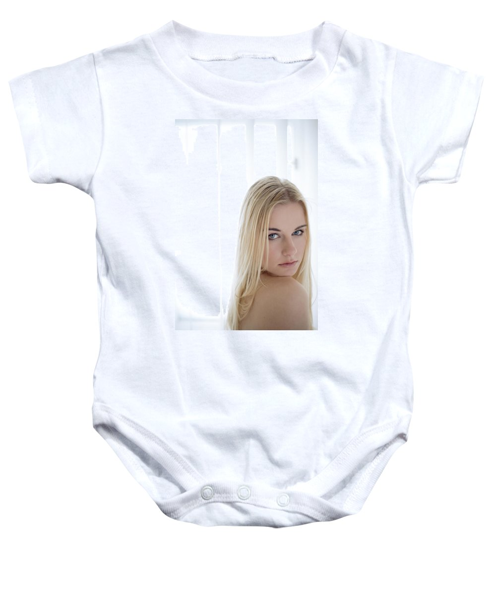 Sensual Baby Onesie featuring the photograph Sincere by Olivier De Rycke