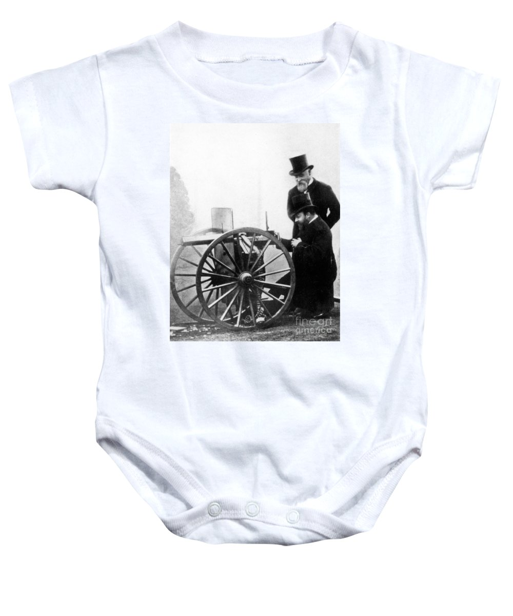 1900 Baby Onesie featuring the photograph Sir Hiram Stevens Maxim by Granger