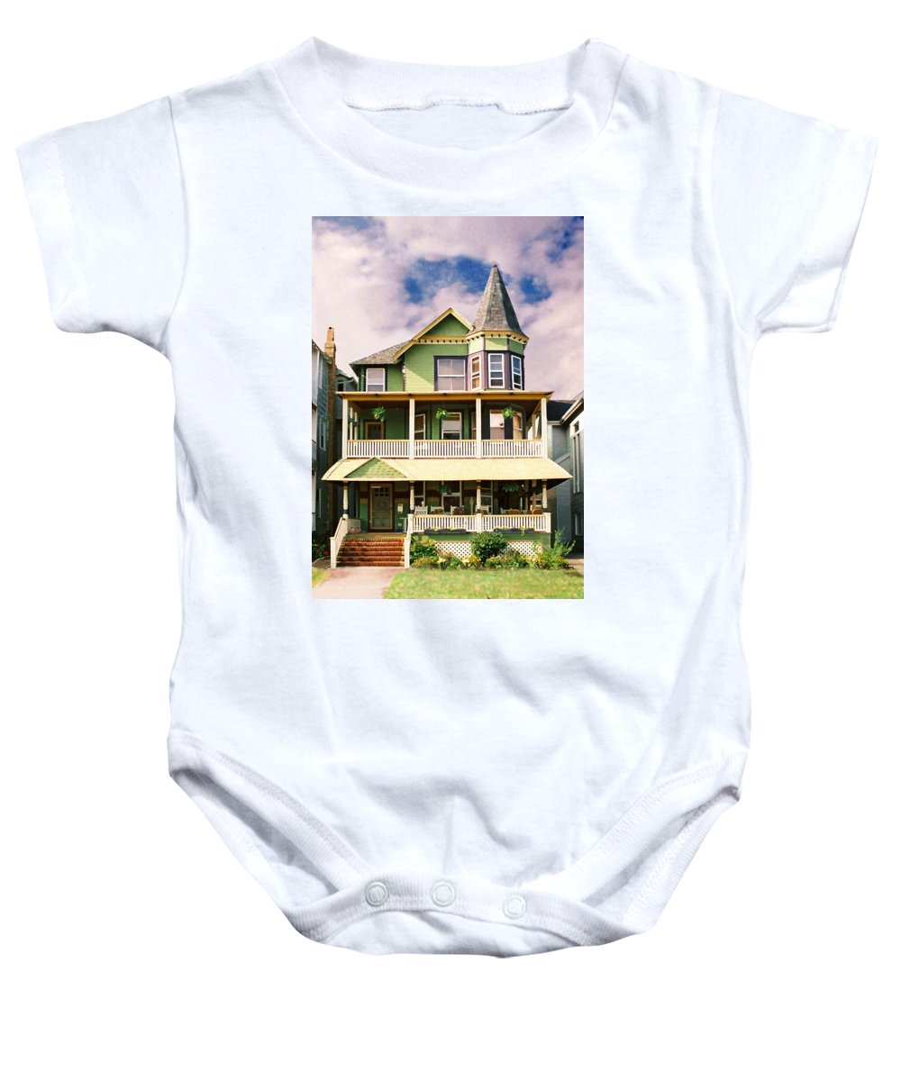Archtiecture Baby Onesie featuring the photograph Sisters Panel 1 Of Triptych by Steve Karol
