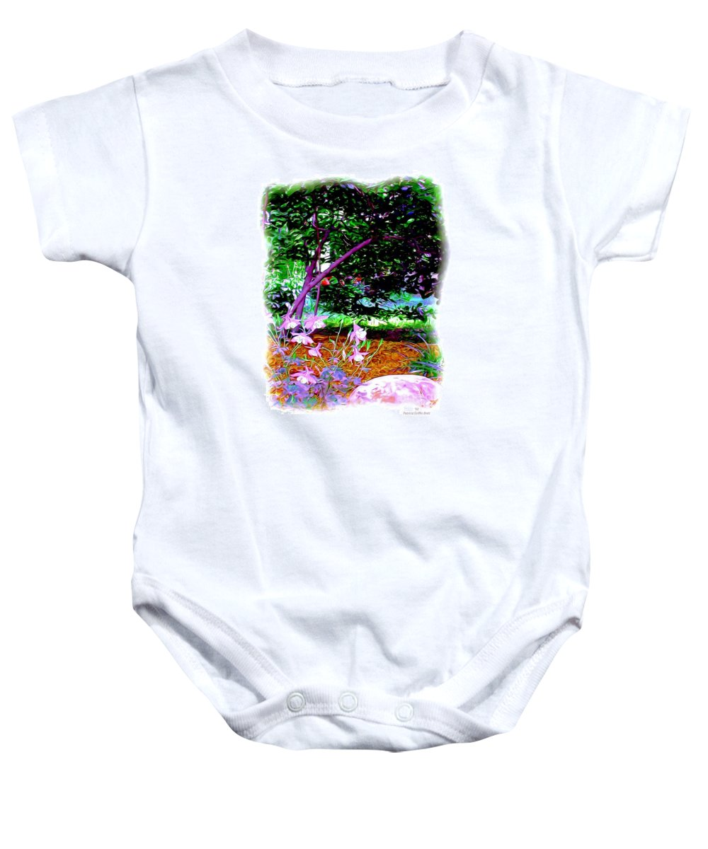 Fine Art Baby Onesie featuring the painting Sitting In The Shade by Patricia Griffin Brett