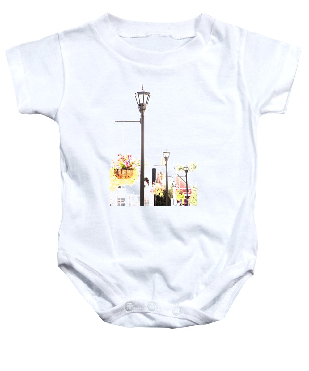 Small Town Baby Onesie featuring the photograph Small Town by Amanda Barcon