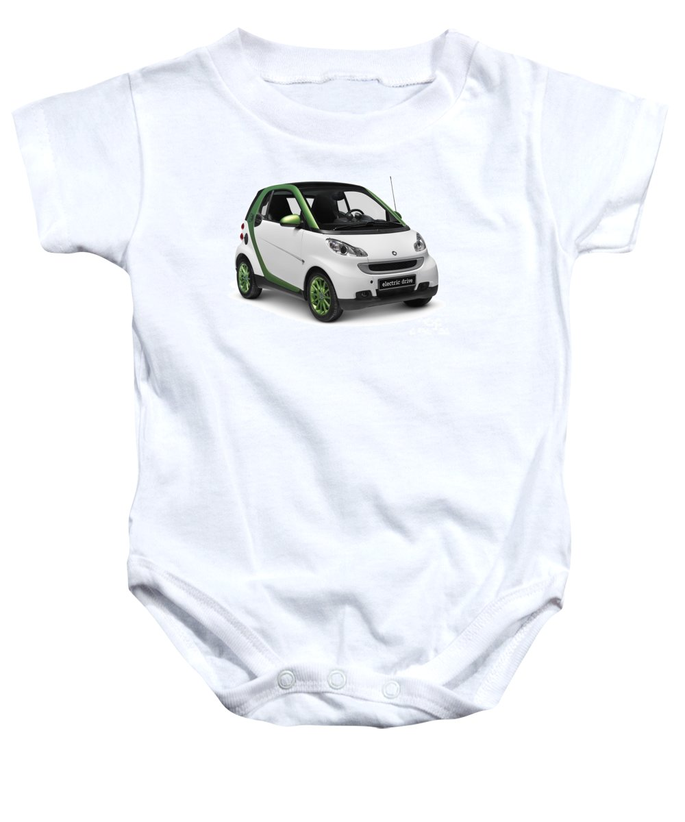 Smart Baby Onesie featuring the photograph Smart Fortwo Electric Drive by Oleksiy Maksymenko