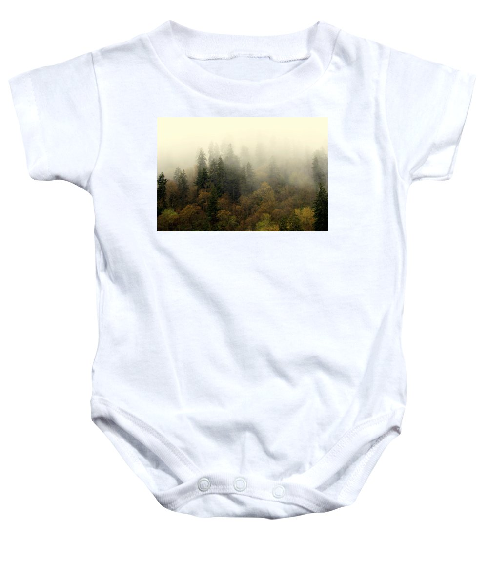 Fog Baby Onesie featuring the photograph Smoky Mount Horizontal by Marty Koch