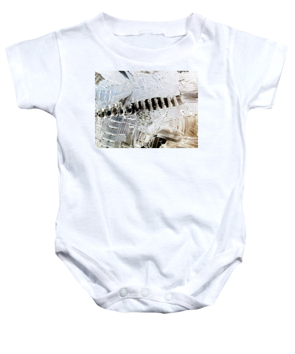Snow Baby Onesie featuring the painting Snow...the Day After by Dawn Hough Sebaugh
