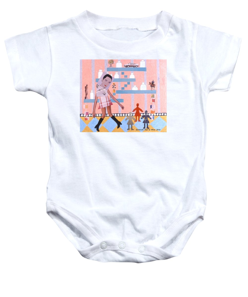 Cowboy Baby Onesie featuring the drawing Soap Scene #16 Miracle Maids by Minaz Jantz