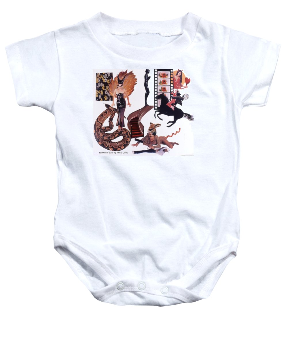 Boa Baby Onesie featuring the drawing Soap Scene #22 Lust In The Wind by Minaz Jantz